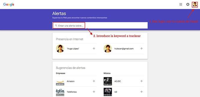 google alerts añadir keyword