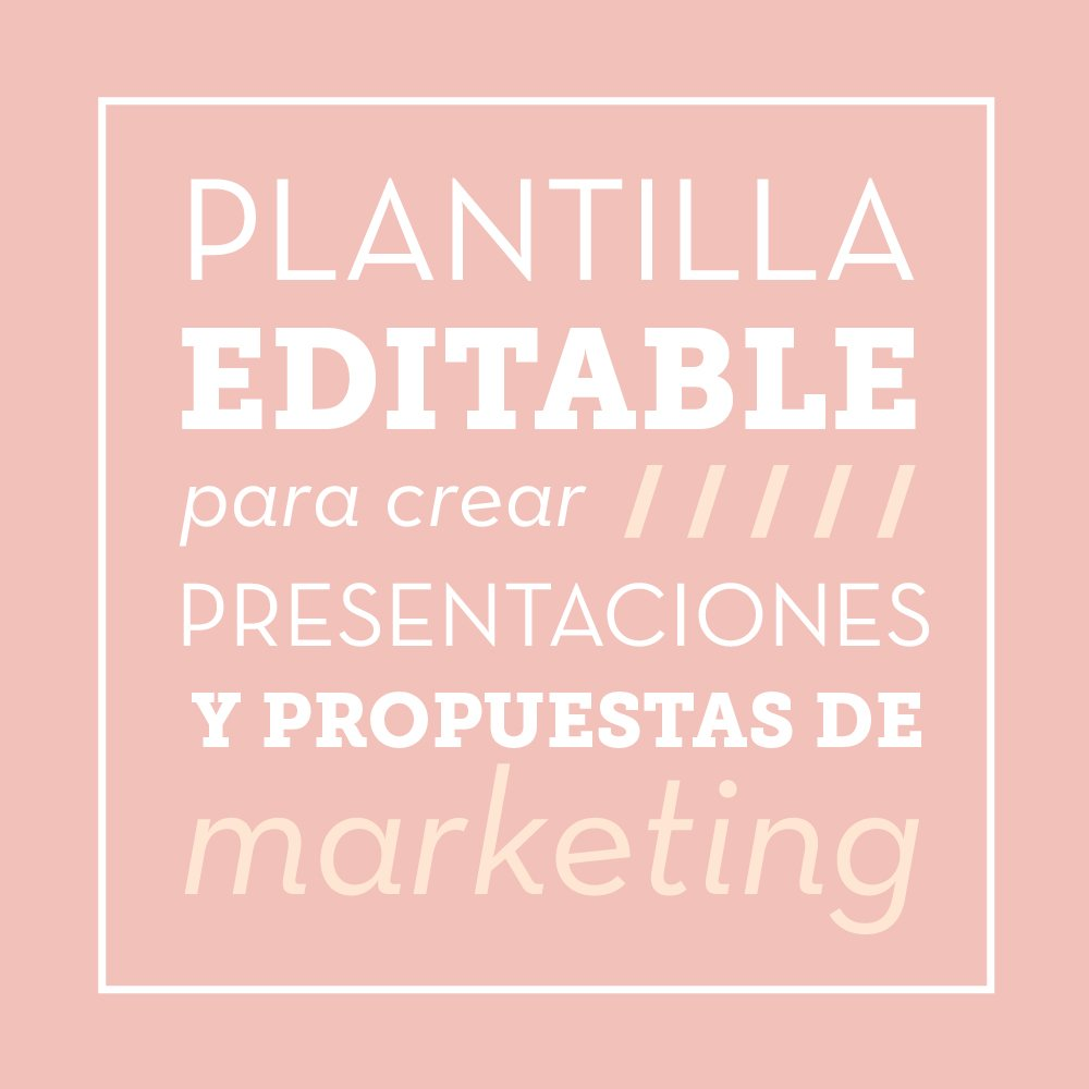 Plantilla editable para crear presentaciones de marketing - Oink ...