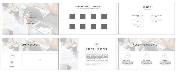 Plantilla editable para crear presentaciones de marketing_Oink my God