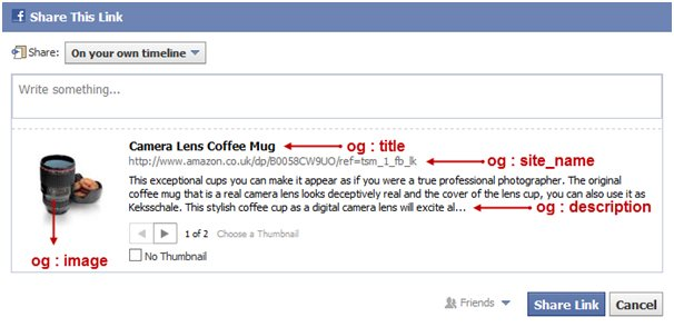 blog facebook ejemplo open graph
