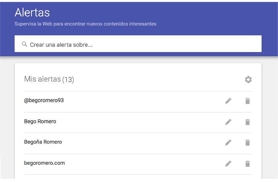 google alerts marca personal