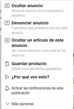 feedback negativo anuncios facebook ads