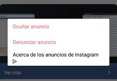 feedback negativo anuncios instagram ads