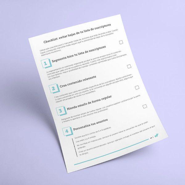 checklist evitar baja suscriptores