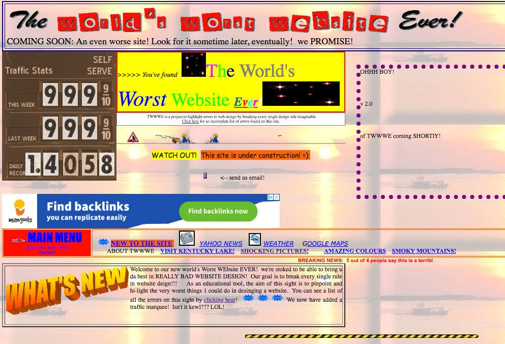 la peor pagina web del mundo