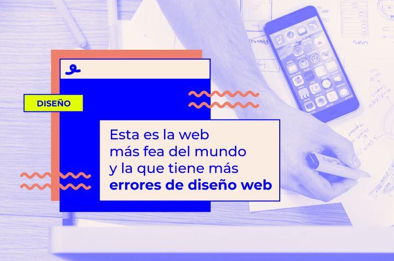 Esta es la web más fea del mundo y la que tiene más errores de diseño web