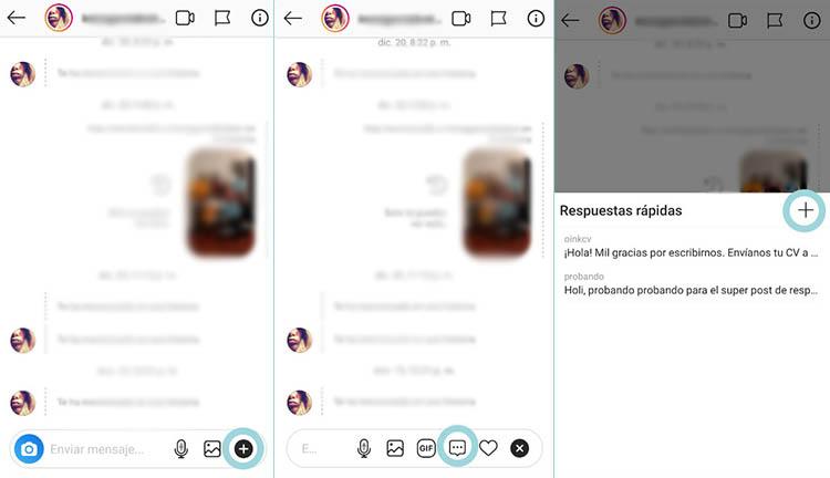 crear respuesta rapida instagram