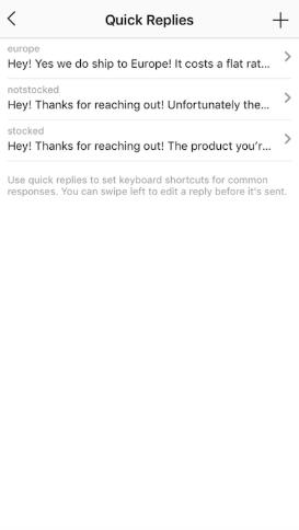ejemplos respuestas tipicas de instagram