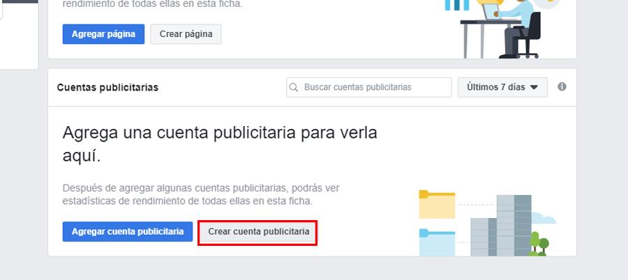 facebook business manager crear cuenta publicitaria