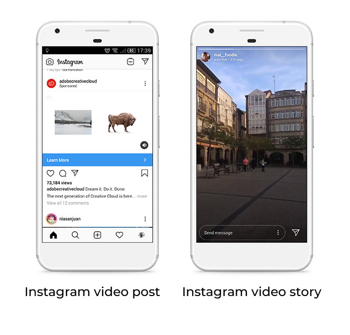 video feed story instagram