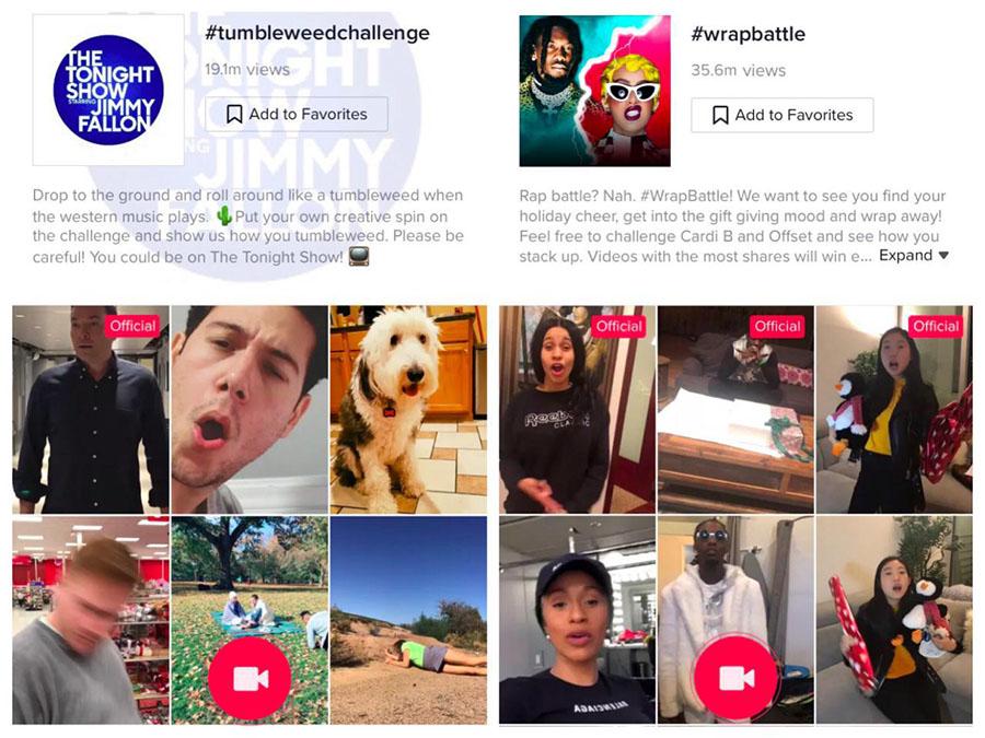 ejemplo anuncio hashtag challenge publicidad tiktok ads
