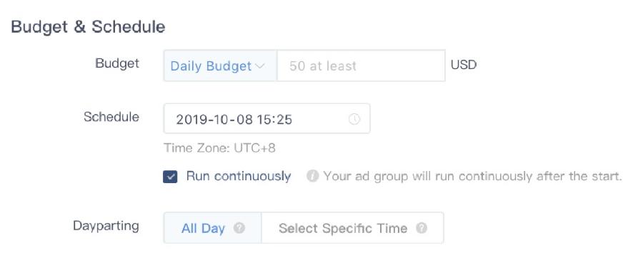 presupuesto campaña publicidad tiktok ads