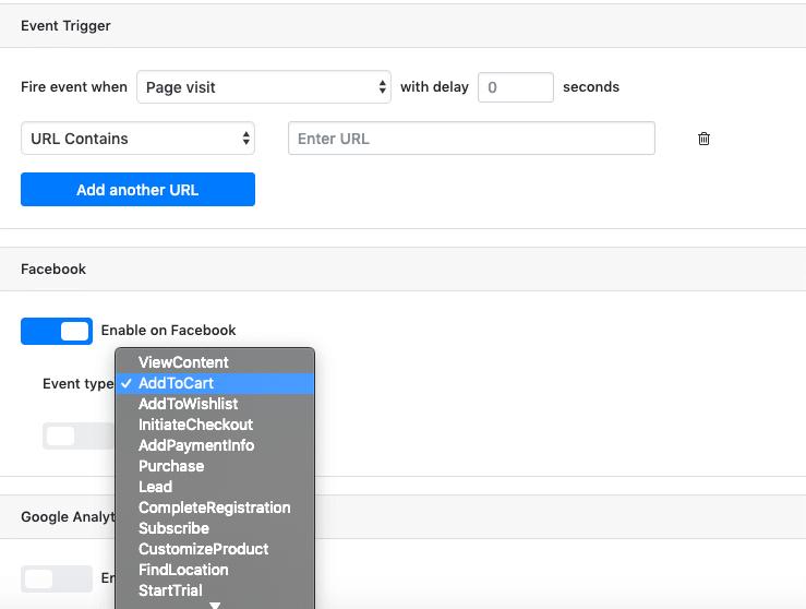 añadiendo URL a pixel your site