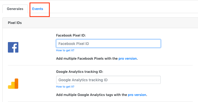 eventos de facebook pixel plugin