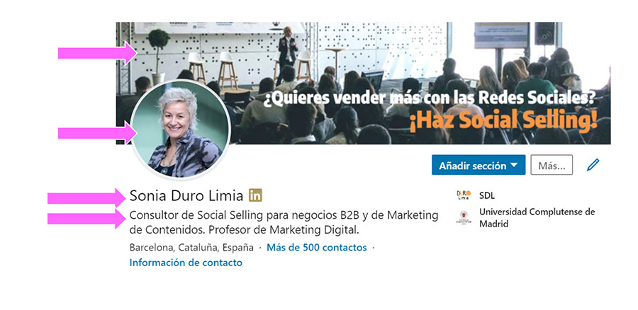 Perfil LinkedIn Sonia Duro Lima