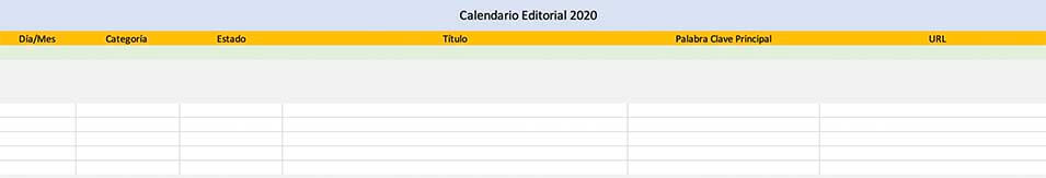 calendario editorial keyword principal