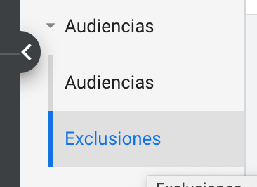 exclusiones audiencias google ads