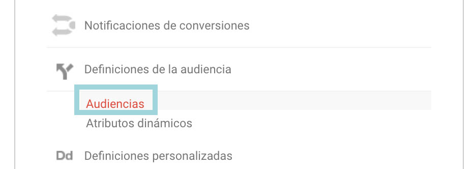 google analytics audiencias