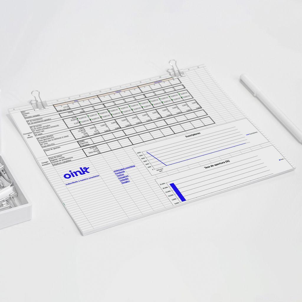 Plantilla para crear informe de resultados de Newsletters [Precio: 3€]