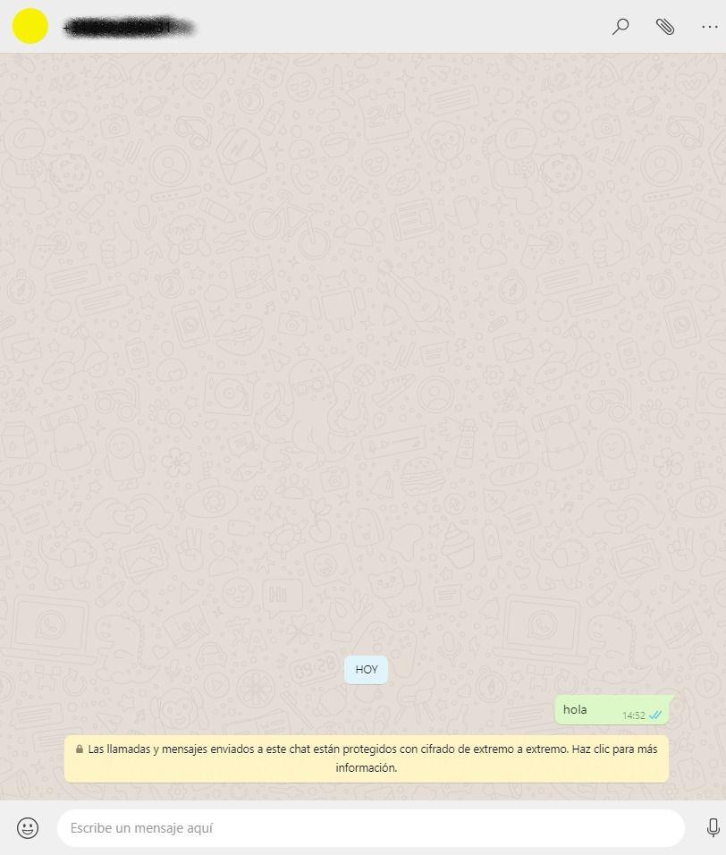 whsatsapp conversacion con uno mismo