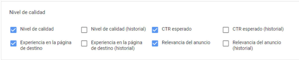 columnas google ads
