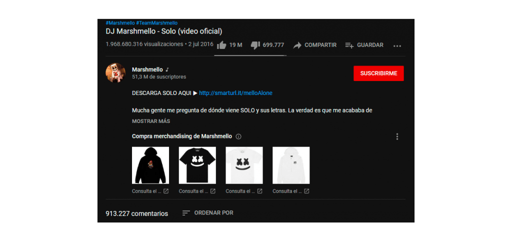 Merchandising en Youtube