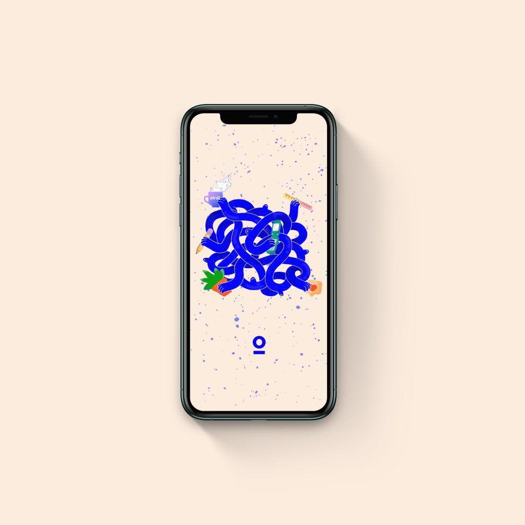 Ilustración Oink – fondo pantalla móvil & ordenador