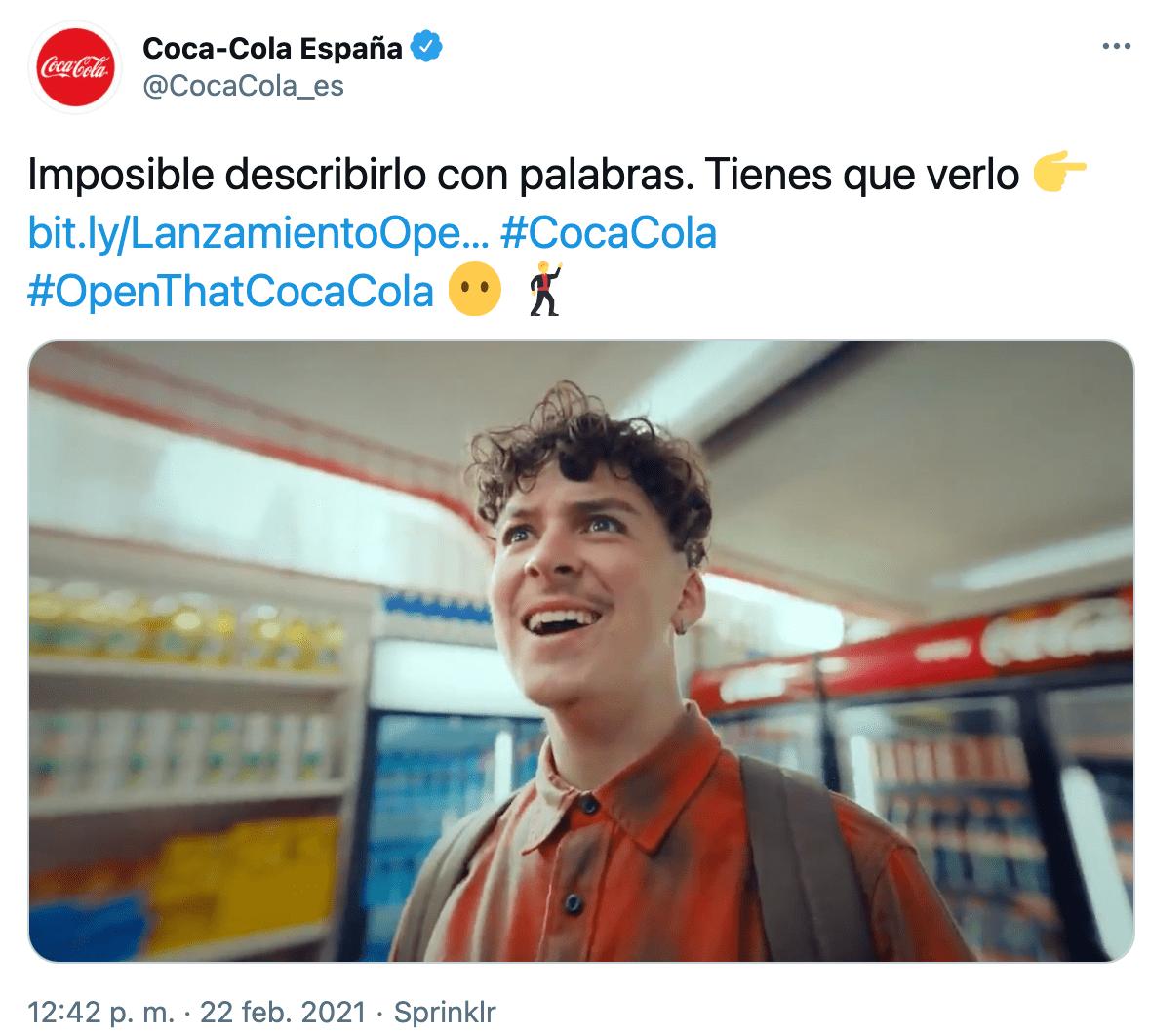 estrategia marketing twitter cocacola lanzamiento producto