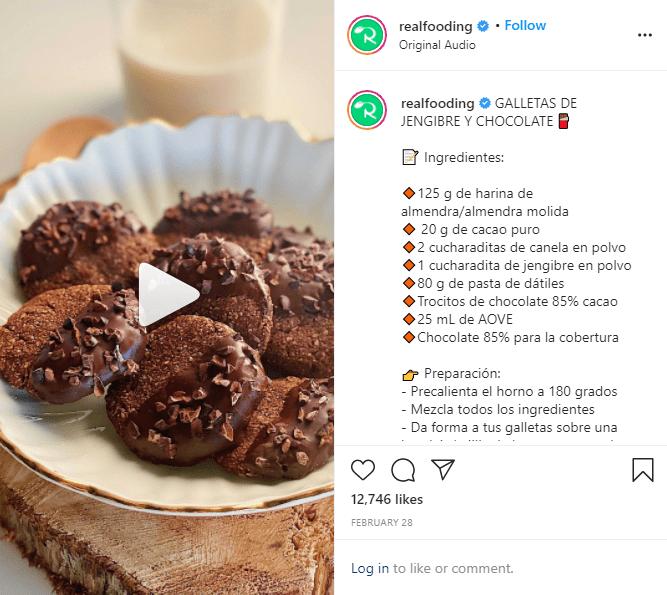 Instagram reels recetas de cocina