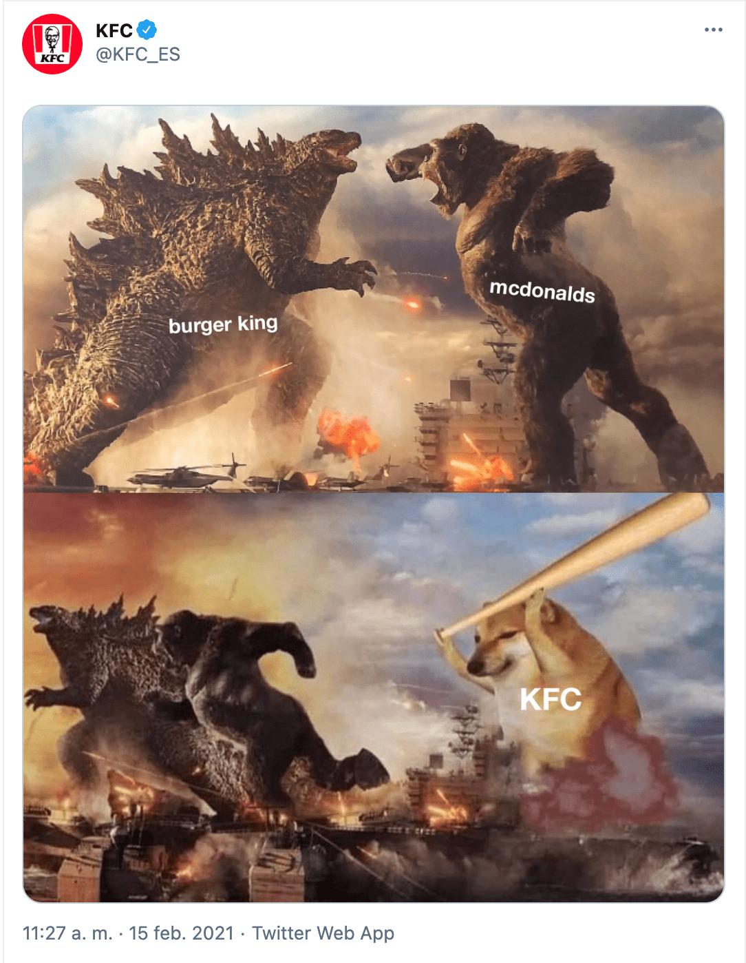 estrategia marketing twitter kfc meme