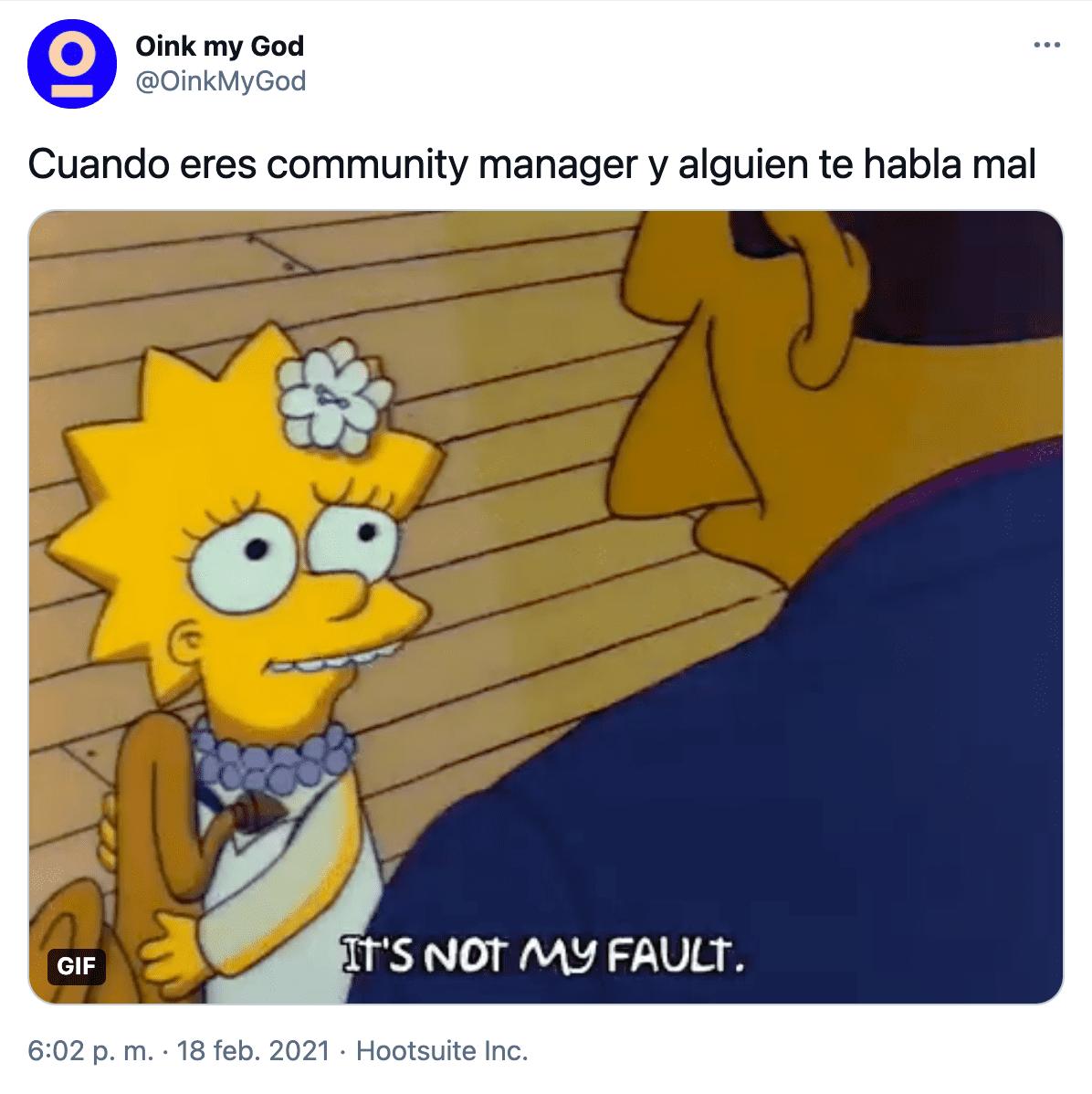 estrategia marketing twitter Oink contenido divertido meme