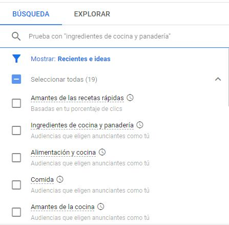 audiencias buscar google ads