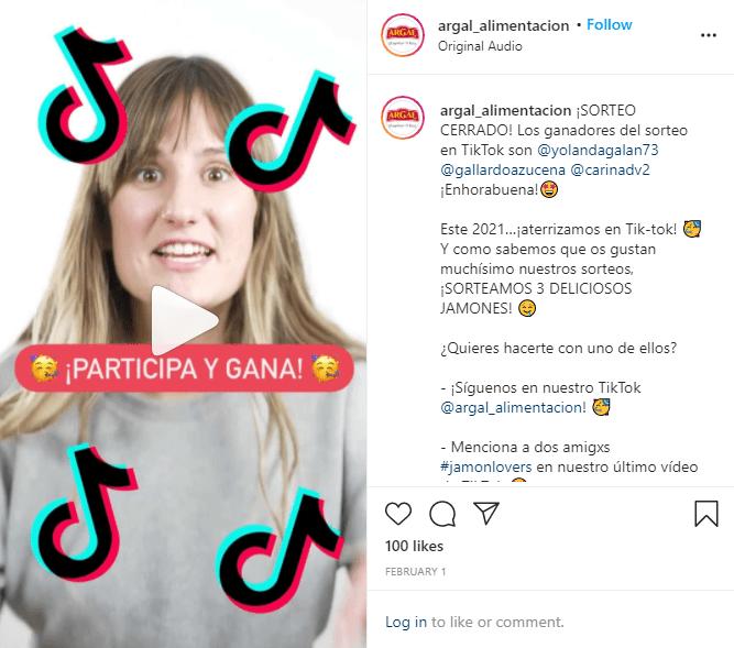instagram reels sorteo