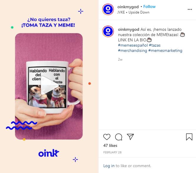 instagram reels producto