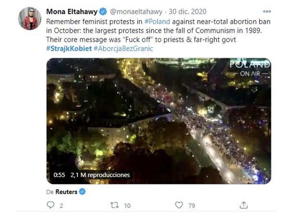 protestas feministas contra la abolición del aborto en polonia