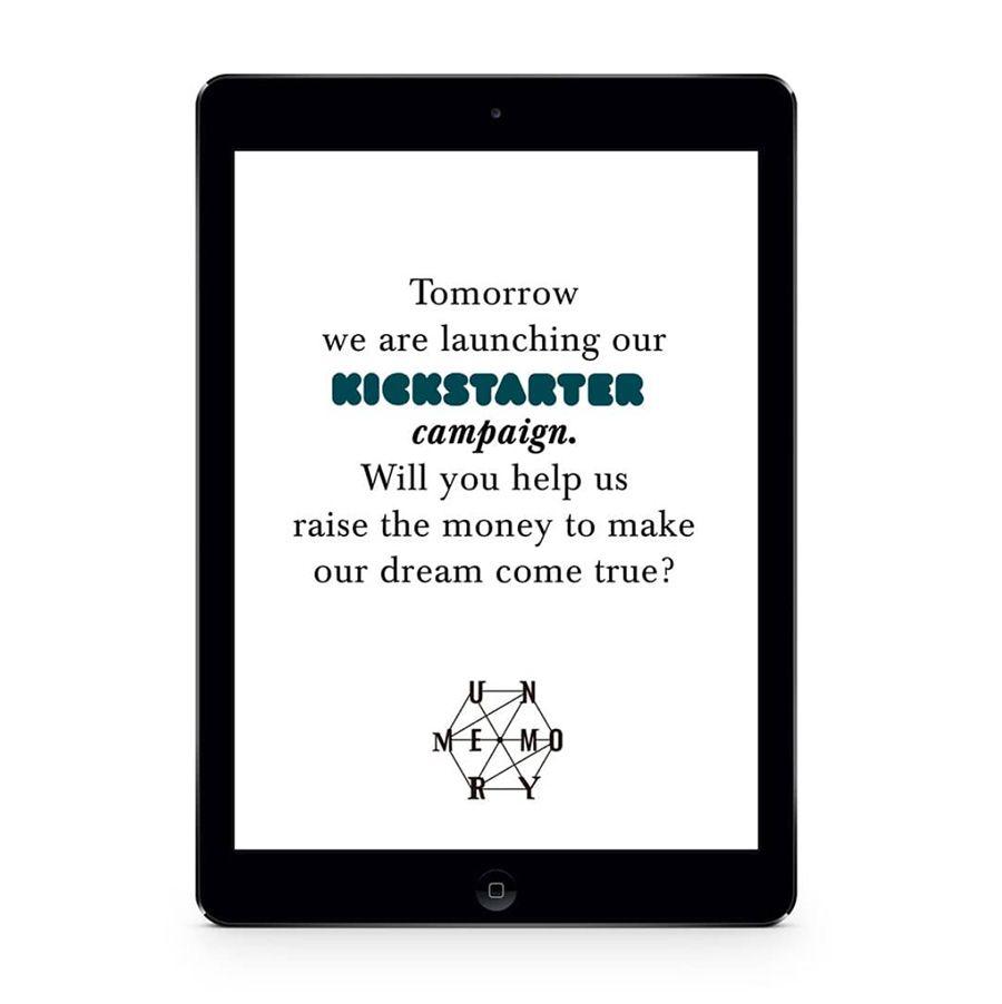 ejemplo post instagram unmemory kickstarter