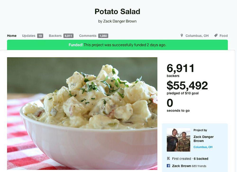 potato salad ejemplo campaña kickstarter existosa