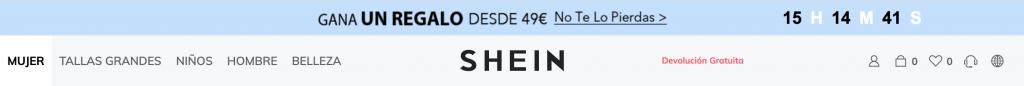 Oferta Shein marketing digital