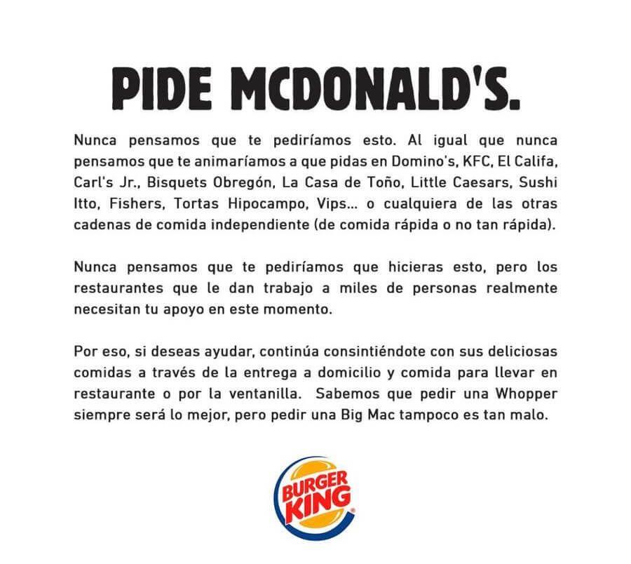ejemplo publicidad desleal mc donalds