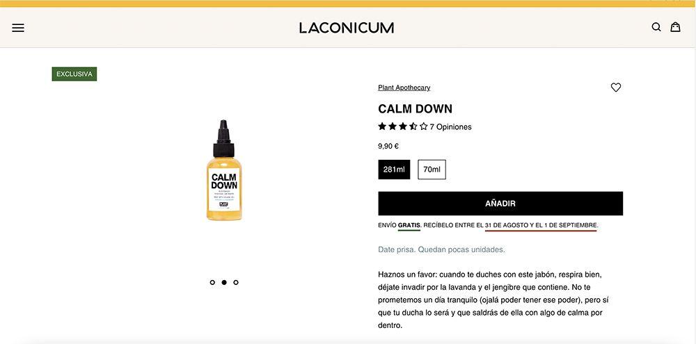 ejemplo ficha de producto laconicum