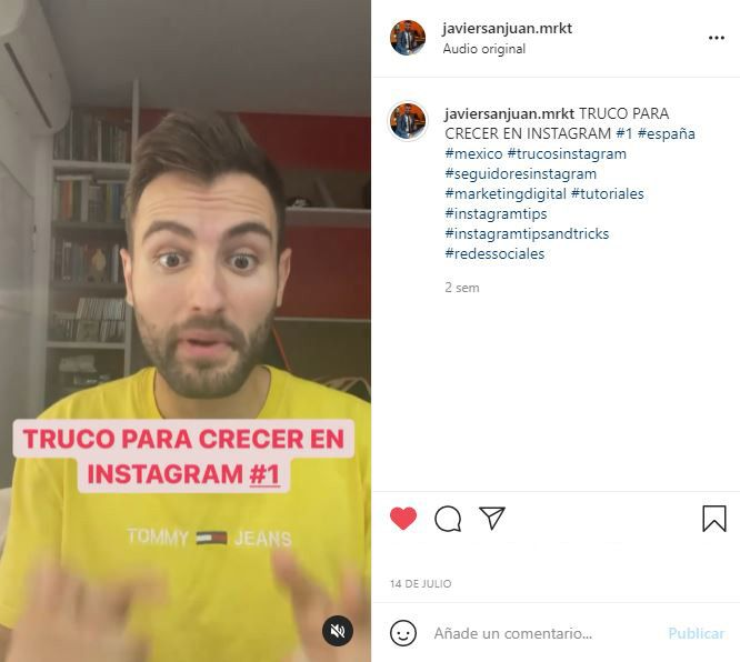 trucos instagram reels hashtags